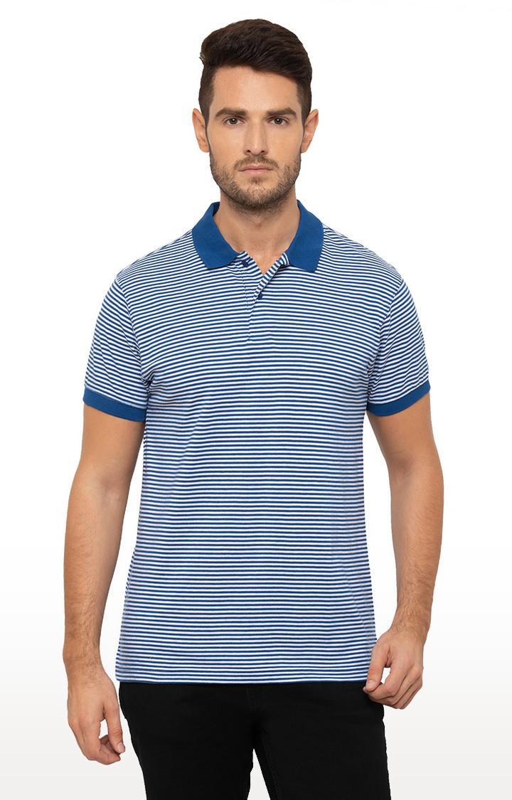 globus | Blue Striped Polo T-Shirt