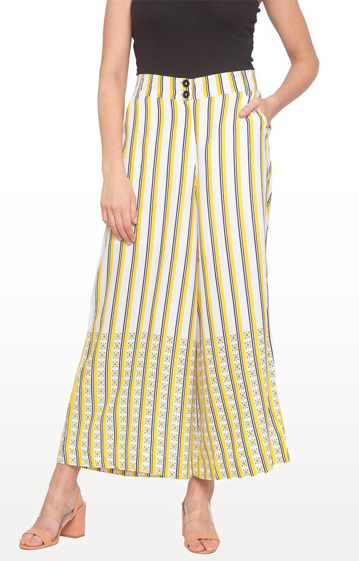 globus | Yellow Striped Palazzos