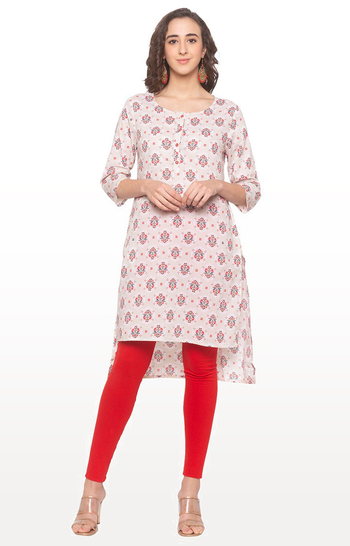 globus | Pink Printed Asymmetric Kurta