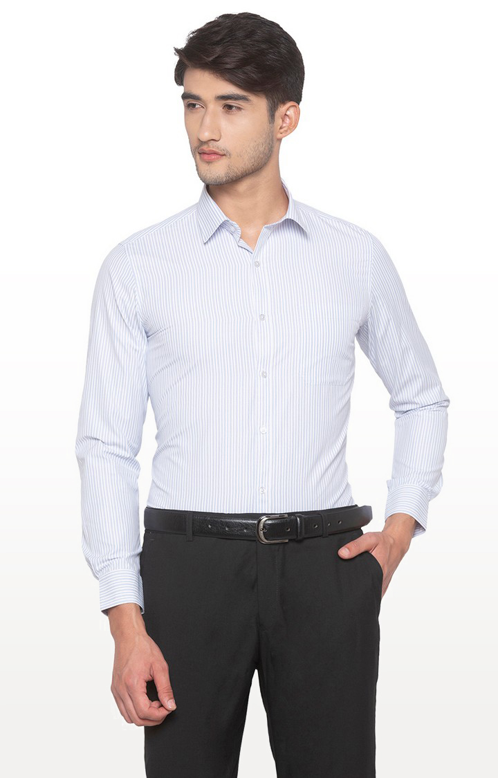 globus | Blue Striped Formal Shirt