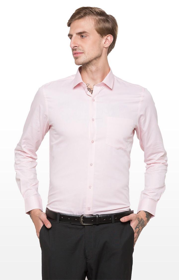 globus | Pink Solid Formal Shirt