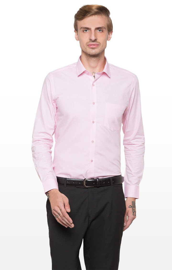 globus | Pink Printed Formal Shirt