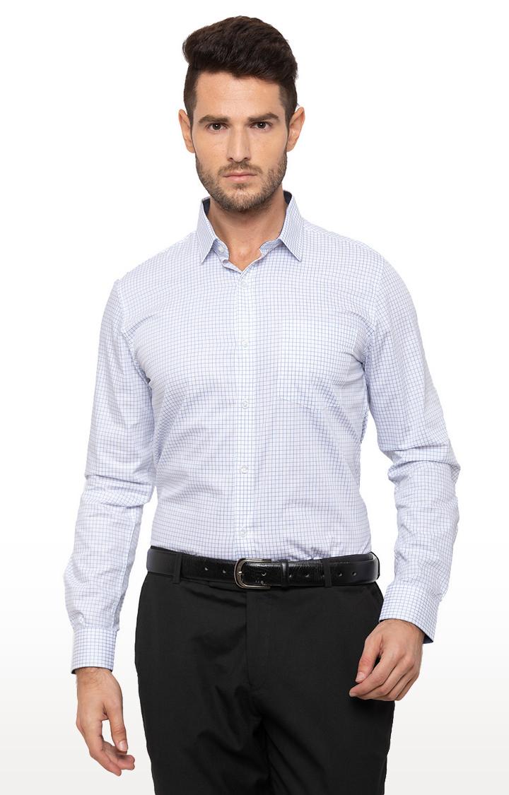 globus | Blue Checked Formal Shirt