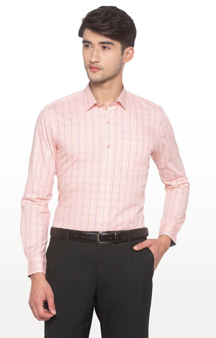 globus | Pink Checked Formal Shirt