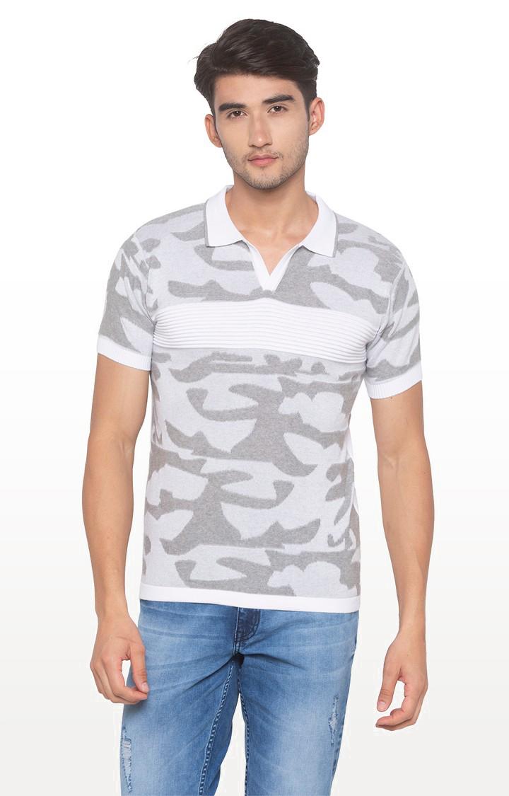 globus | White Camouflage Polo T-Shirt