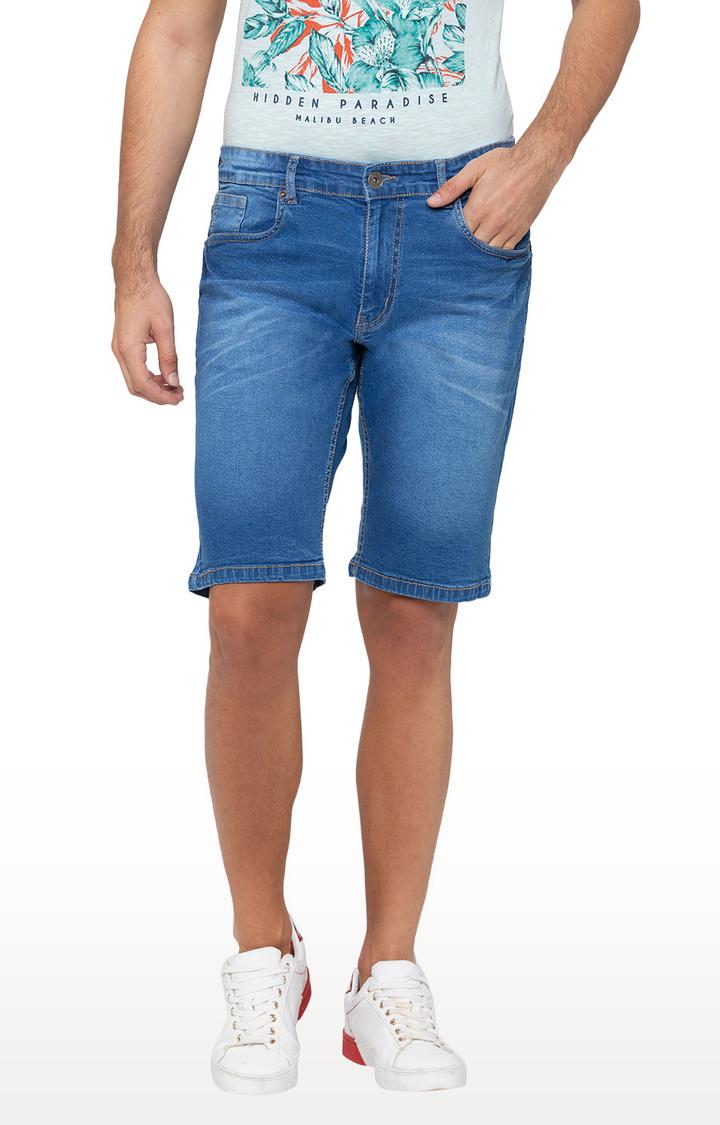 globus | Blue Solid Shorts