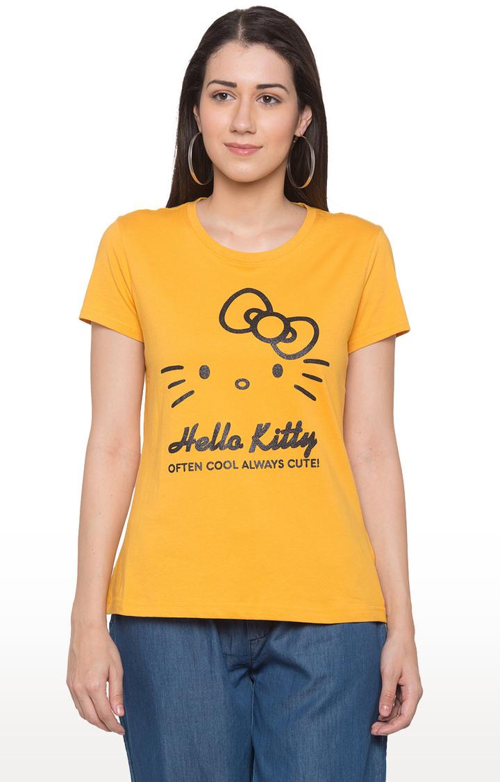 globus | Yellow Printed T-Shirt