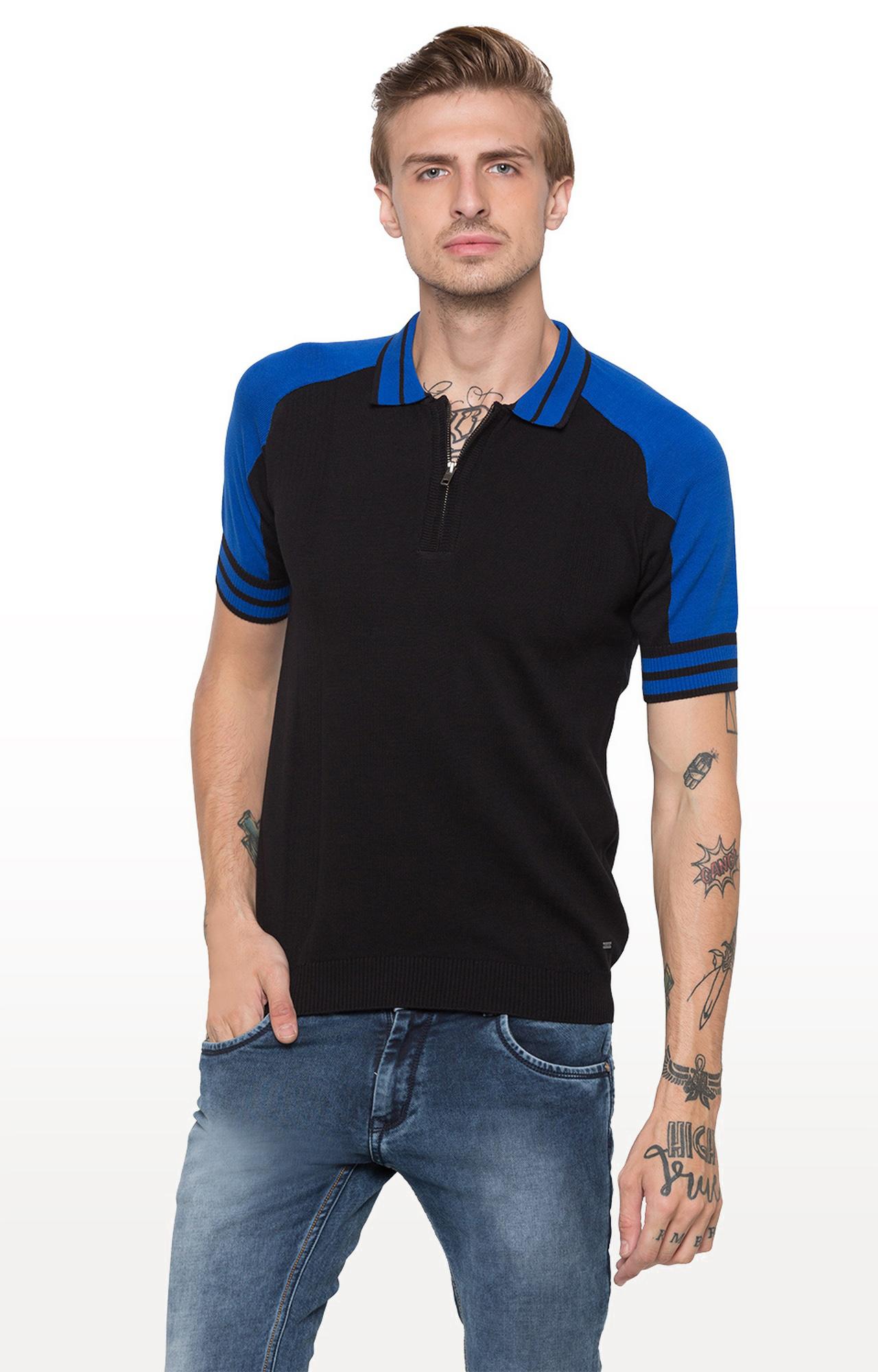 globus | Black Solid Polo T-Shirt