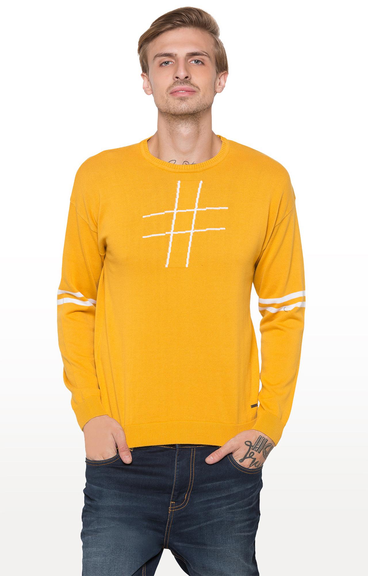 globus   Yellow Printed Sweatshirt