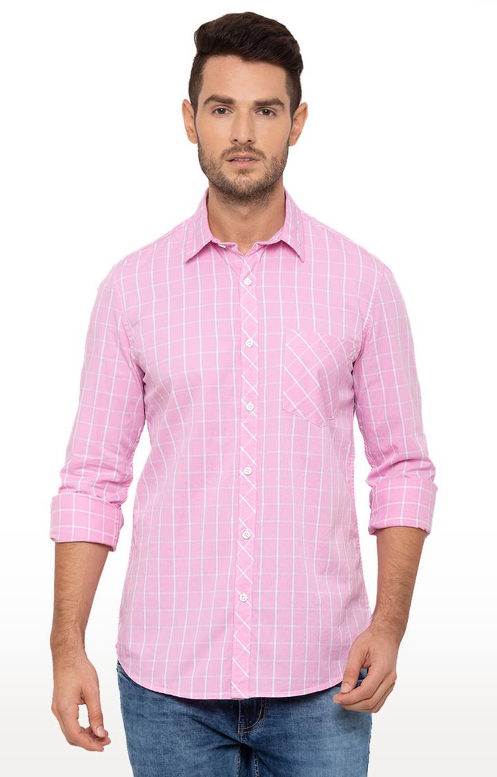 globus | Pink Checked Casual Shirt