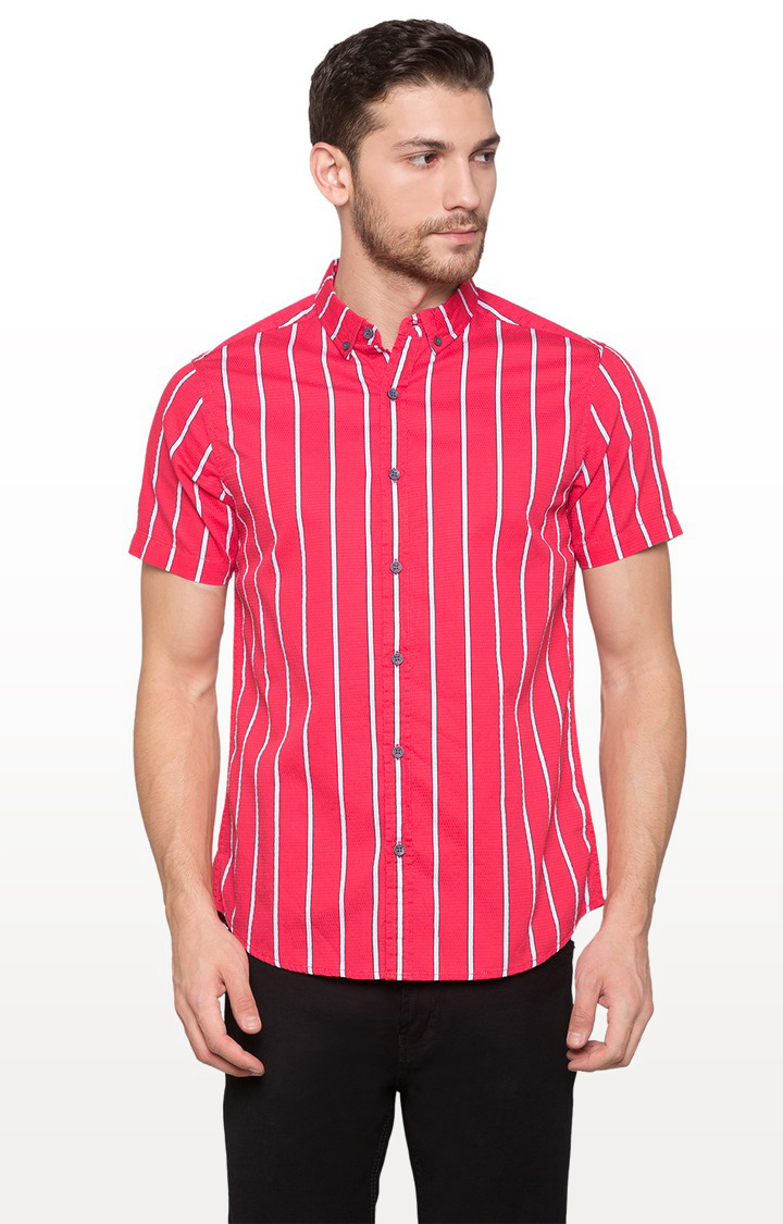 globus | Red Striped Casual Shirt