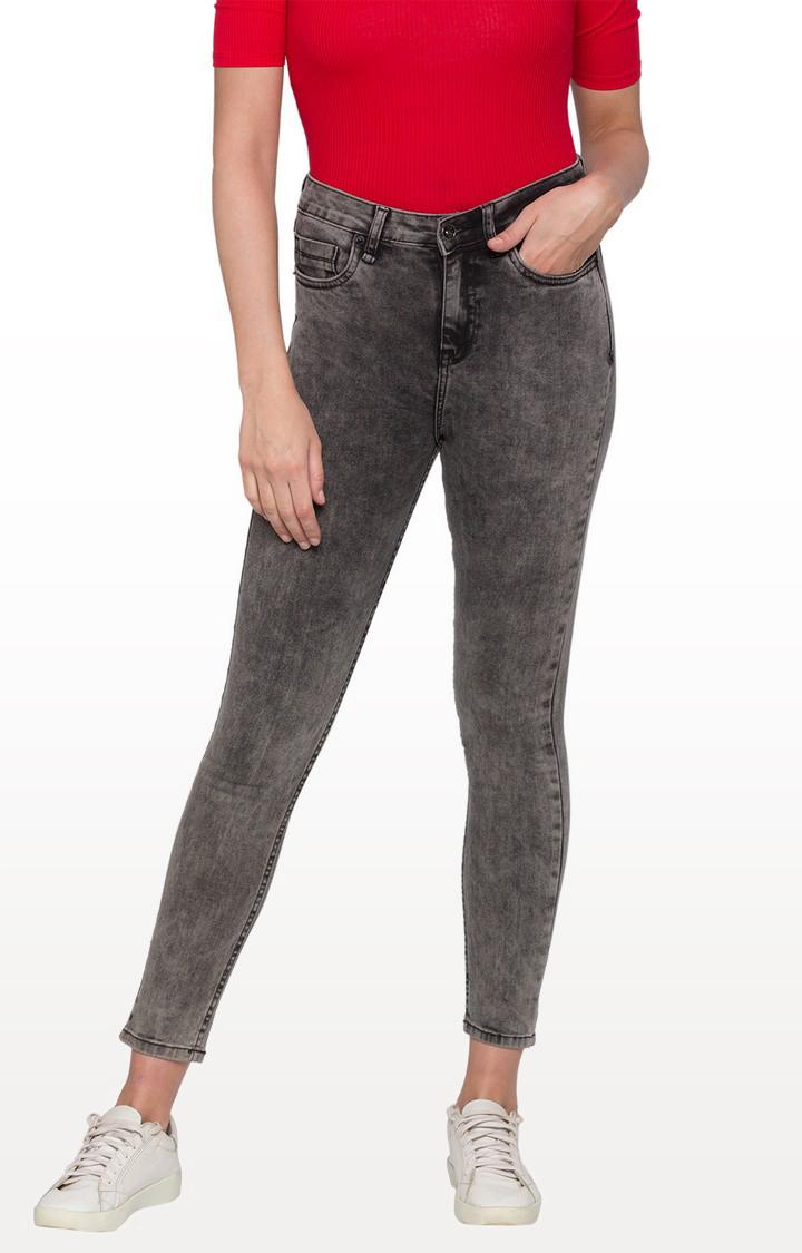 globus | Black Washed High-Rise Skinny Fit Jeans