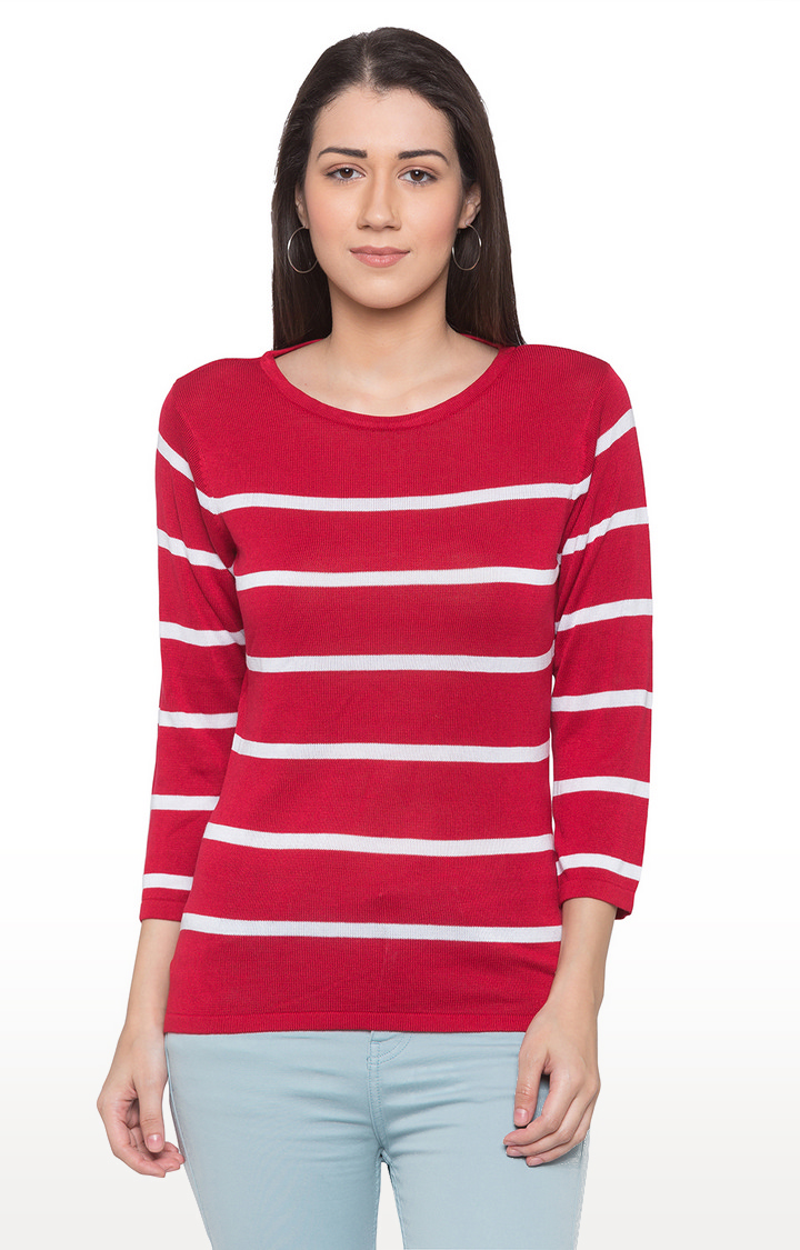 globus | Red Striped Top