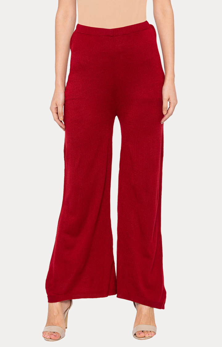 globus | Red Solid Palazzos