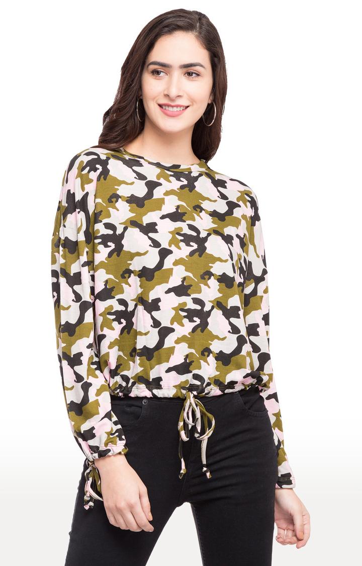 globus | Multicoloured Camouflage Blouson Top