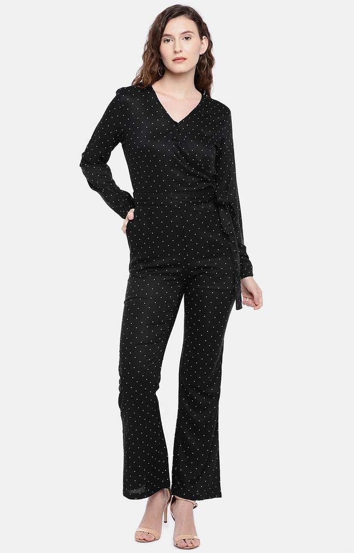 globus   Black Printed Jumpsuit