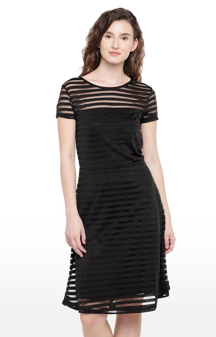 globus   Black Striped Shift Dress