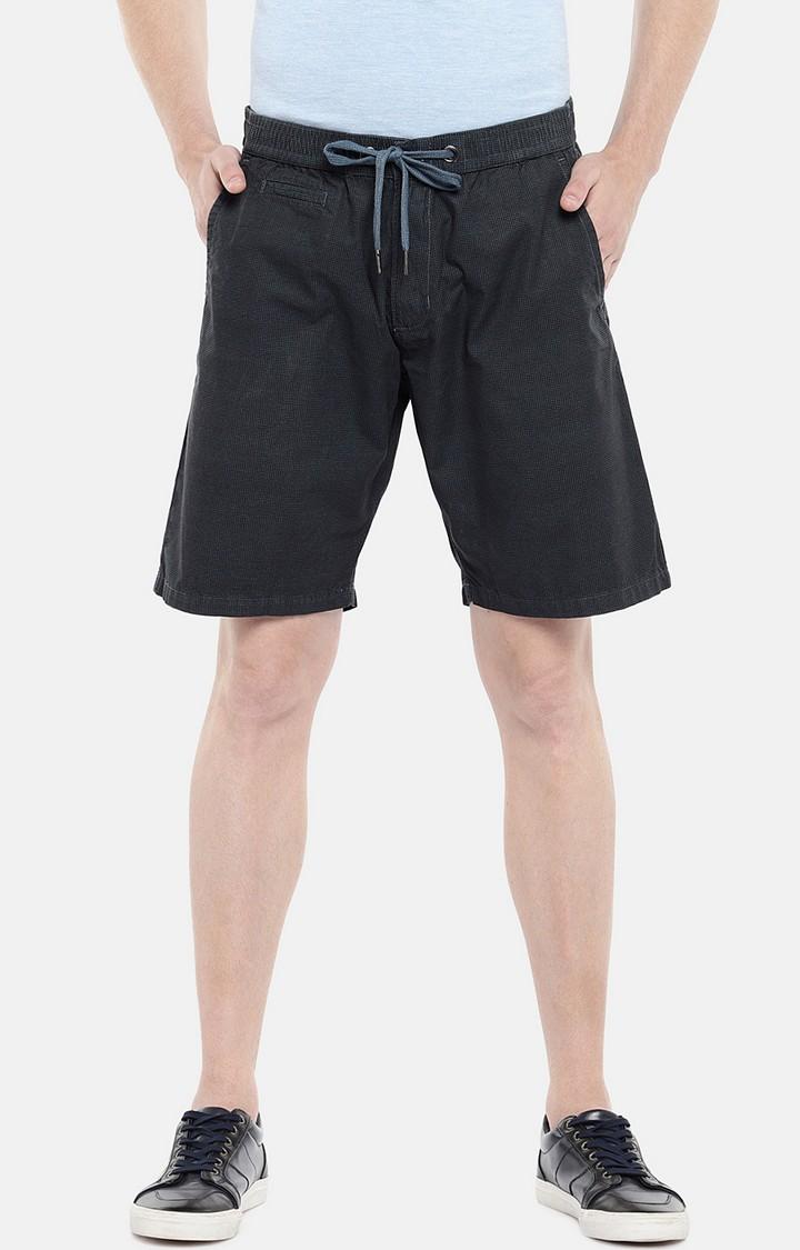 globus   Blue Solid Regular Fit Shorts
