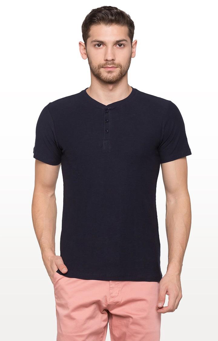 globus | Navy Solid T-Shirt