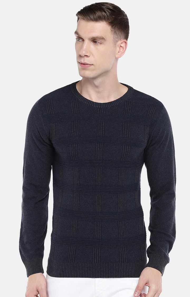 globus   Blue Checked Sweatshirt