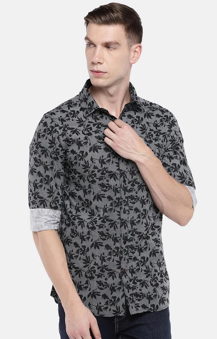 globus   Black Printed Casual Shirt