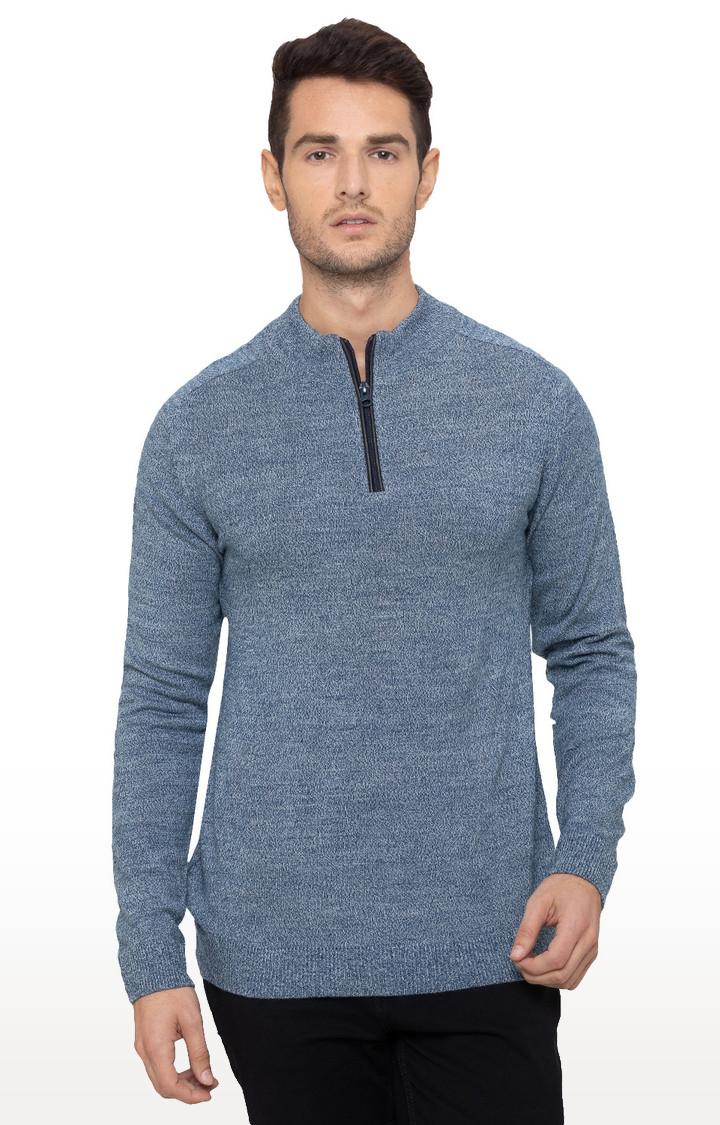 globus   Blue Melange Sweater