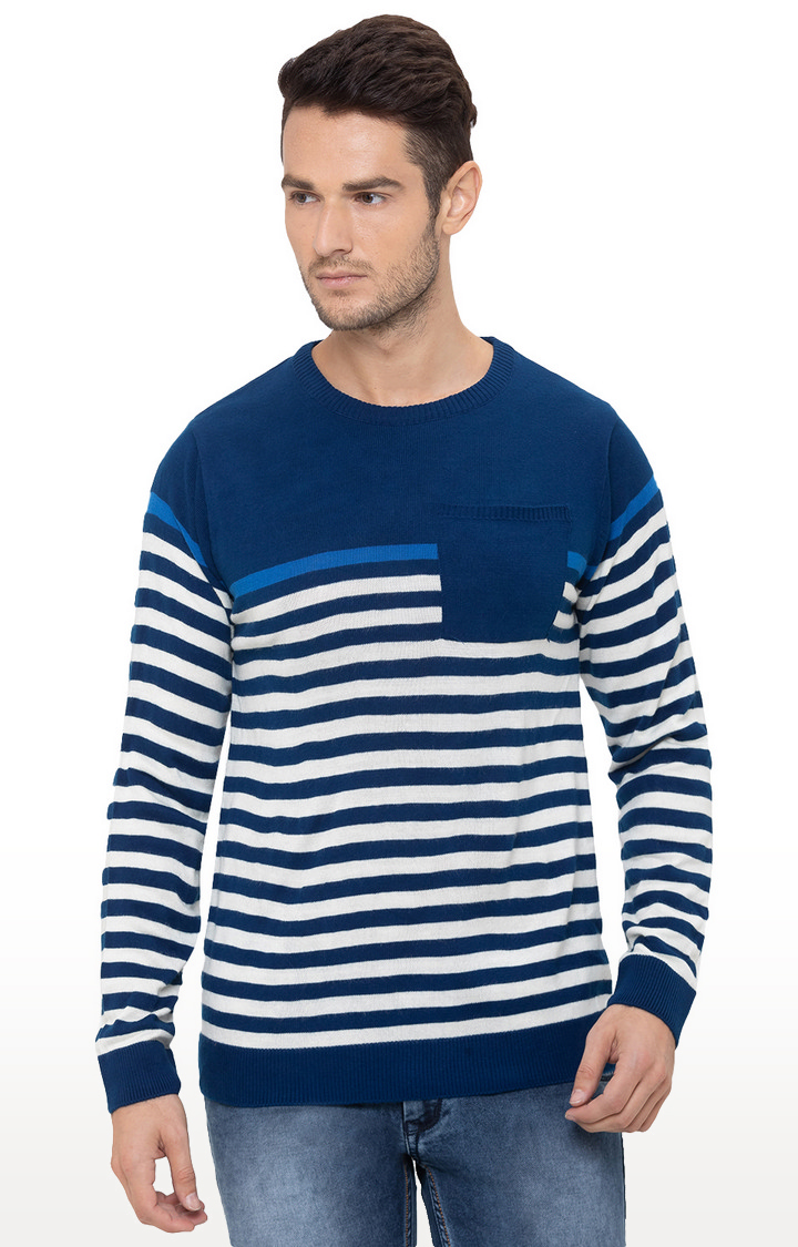 globus   Blue Striped Sweater