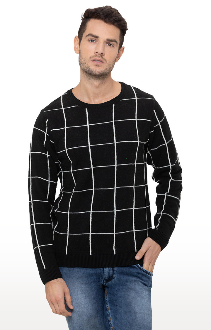 globus | Black Checked Sweater