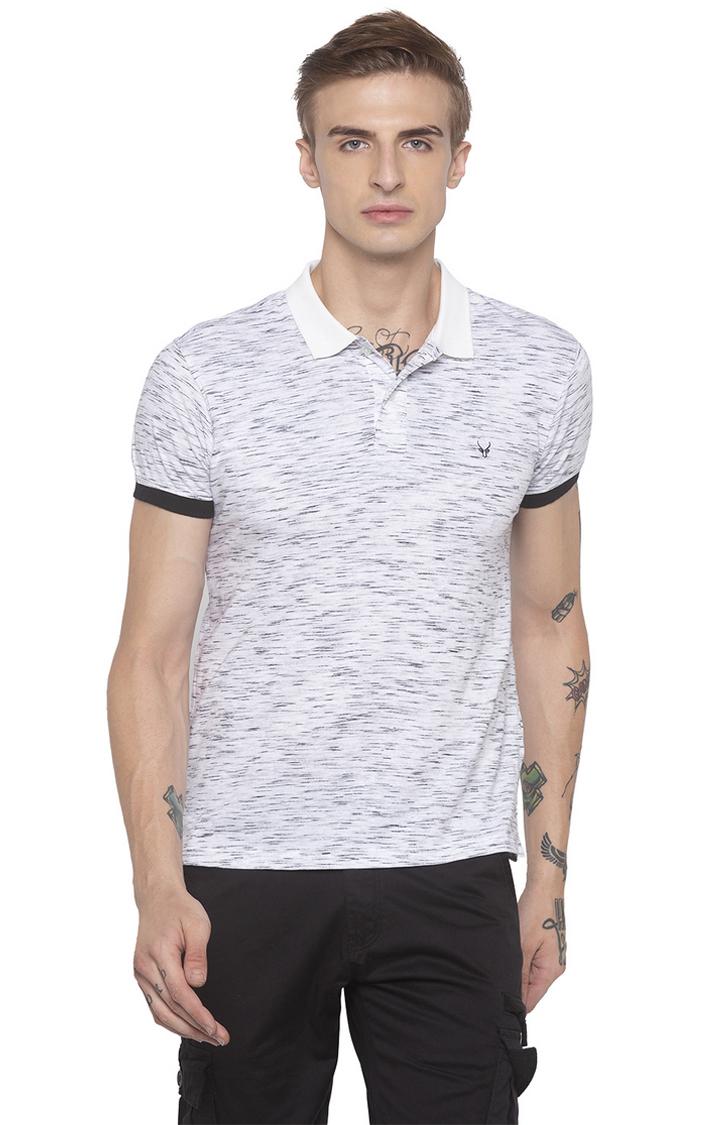 globus | White Printed Polo T-Shirt