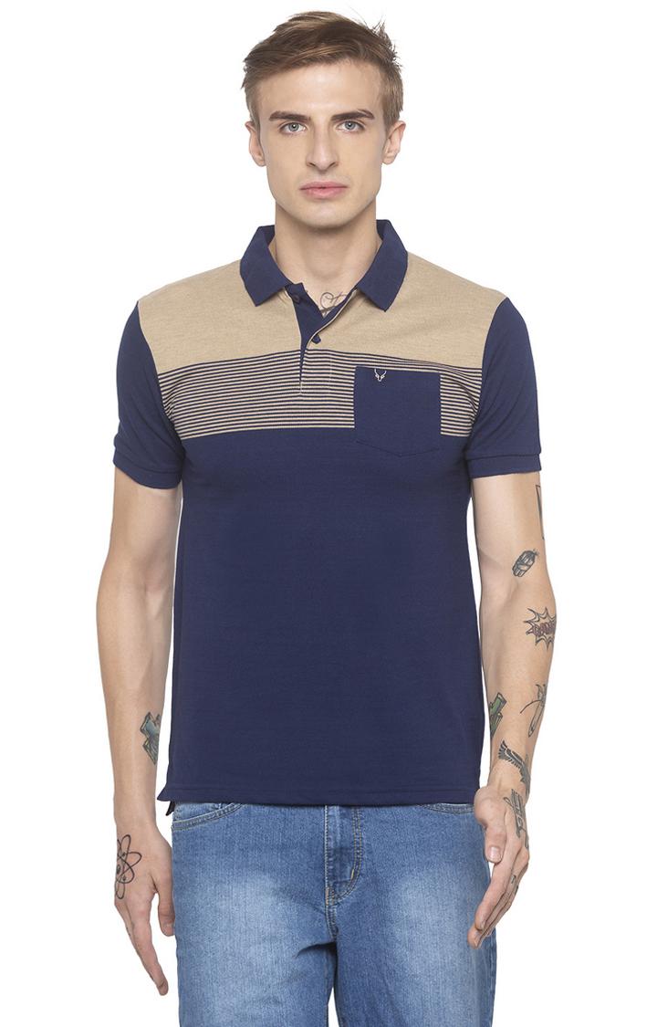 globus   Blue Striped Polo T-Shirt