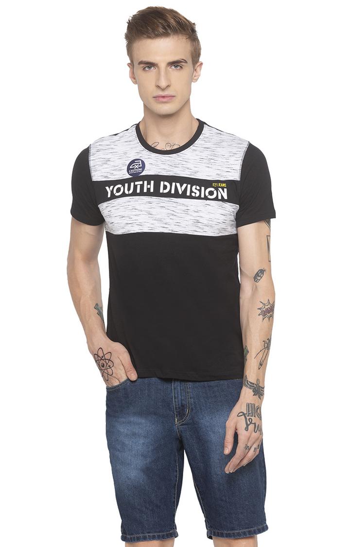 globus   Black Colourblock T-Shirt
