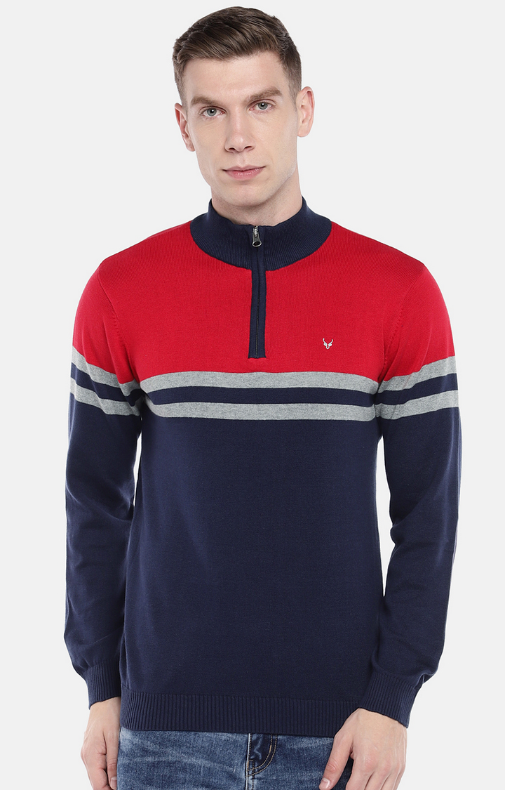 globus   Red Striped Sweatshirt