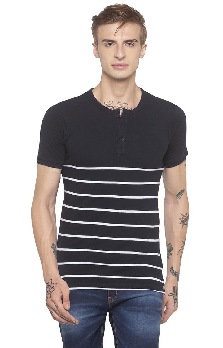 globus   Navy Striped T-Shirt