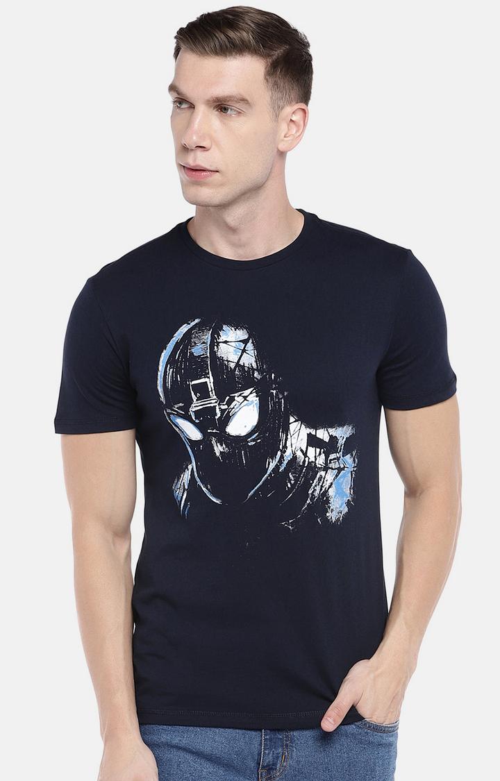 globus   Navy Printed T-Shirt
