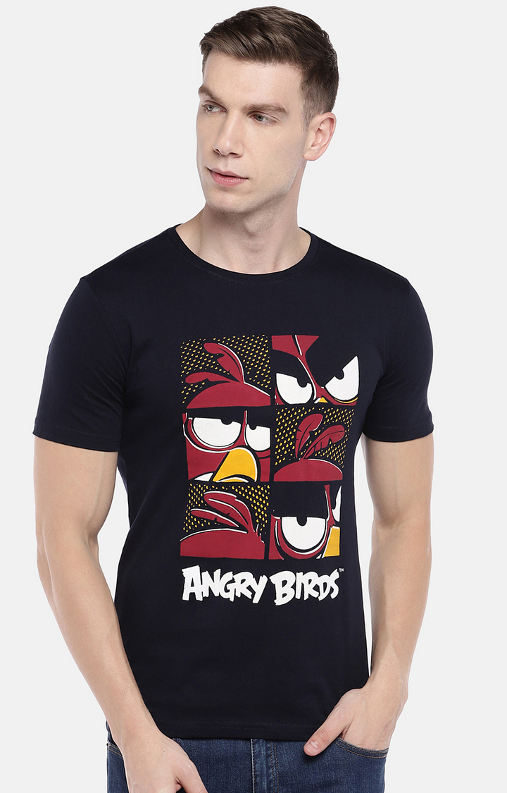 globus | Navy Printed T-Shirt