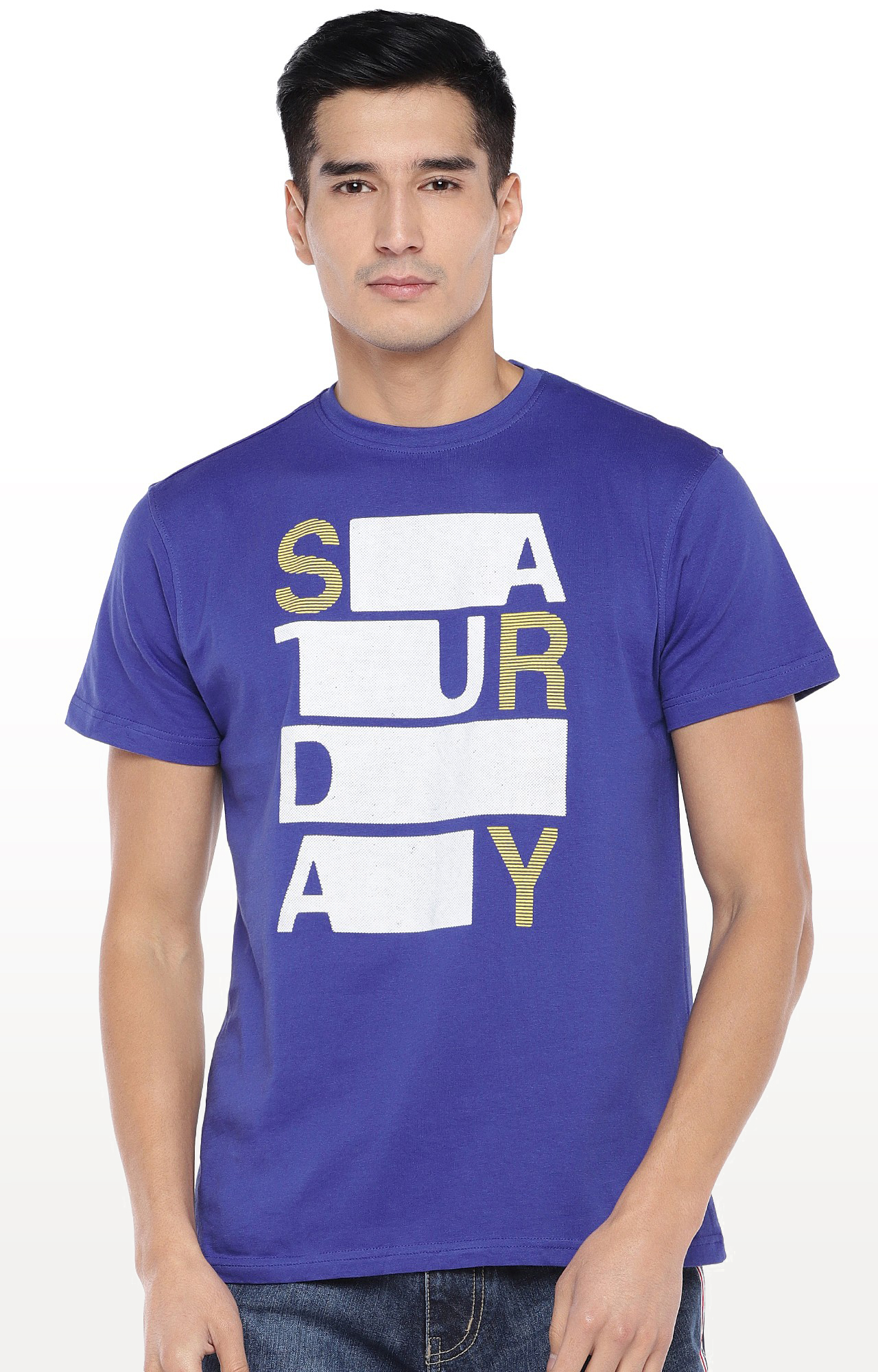 globus   Blue Printed T-Shirt