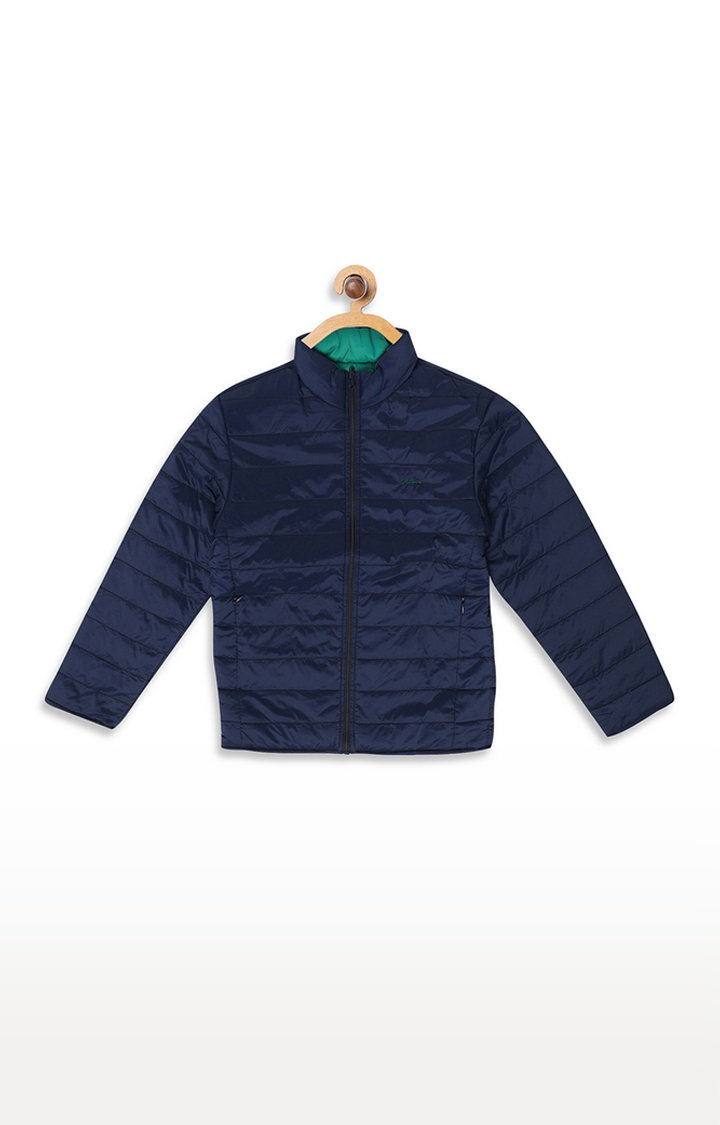 OCTAVE | Green and Navy Solid Jacket