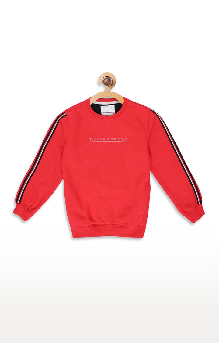 OCTAVE | Miami Red Printed Sweatshirt
