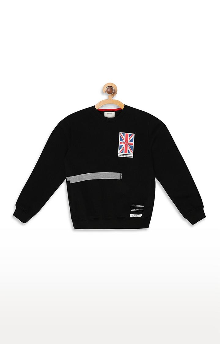 OCTAVE | Black Printed Sweatshirt