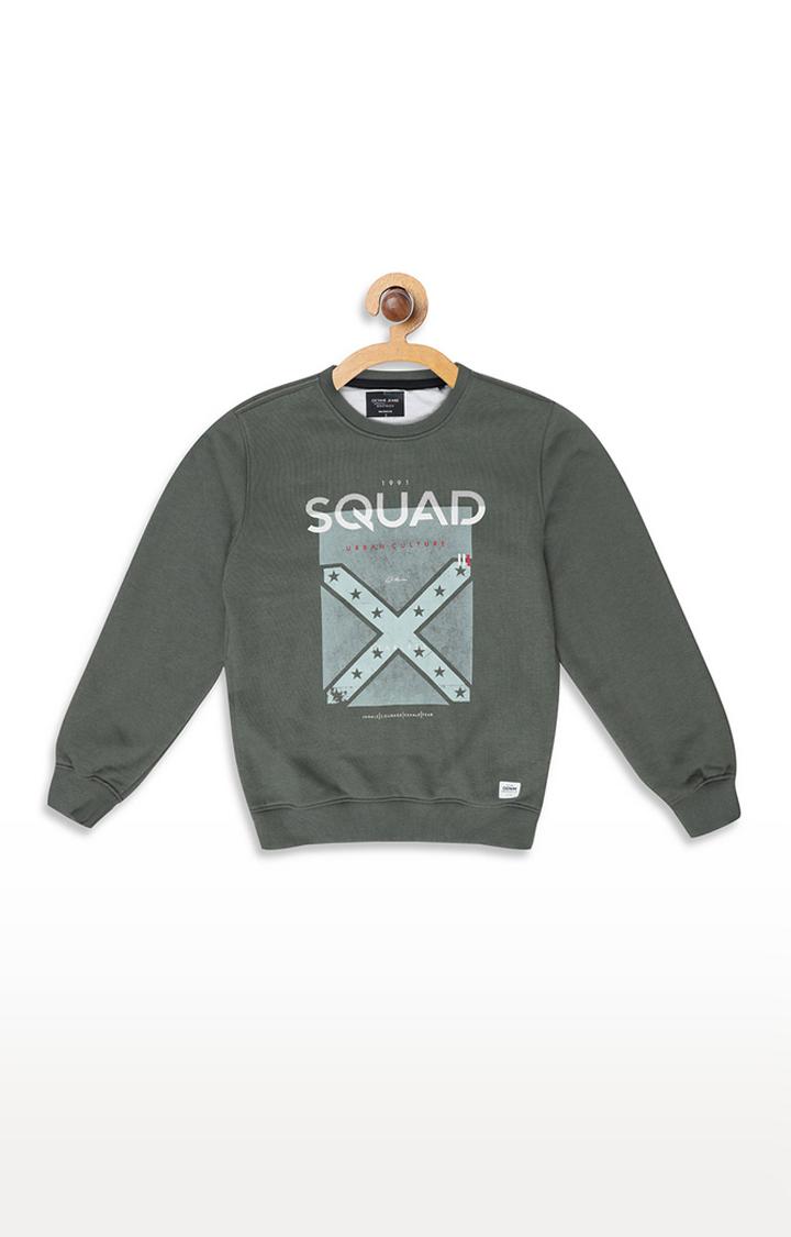 OCTAVE | Grey Printed Sweatshirt