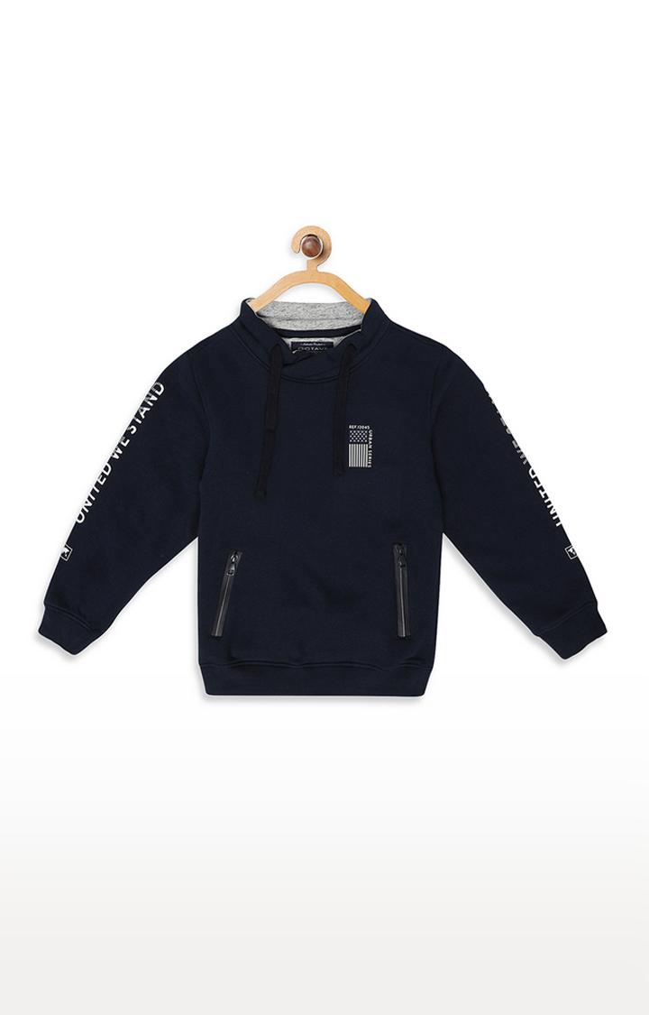 OCTAVE | Indigo Printed Sweatshirt