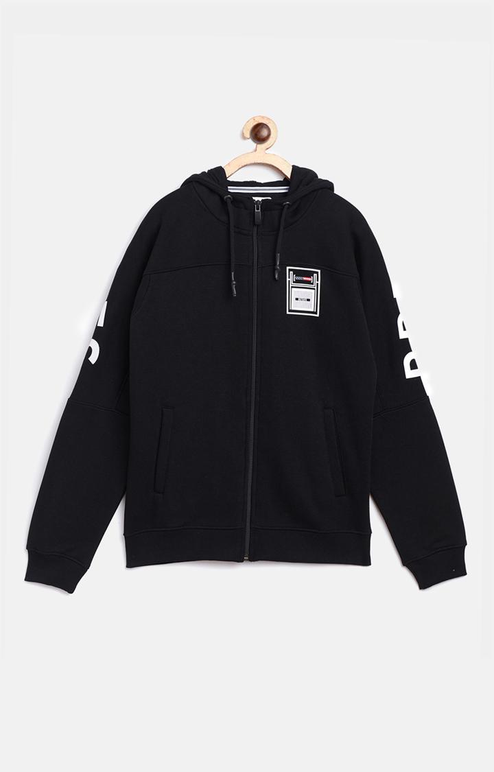 OCTAVE   Black Solid Hoodie