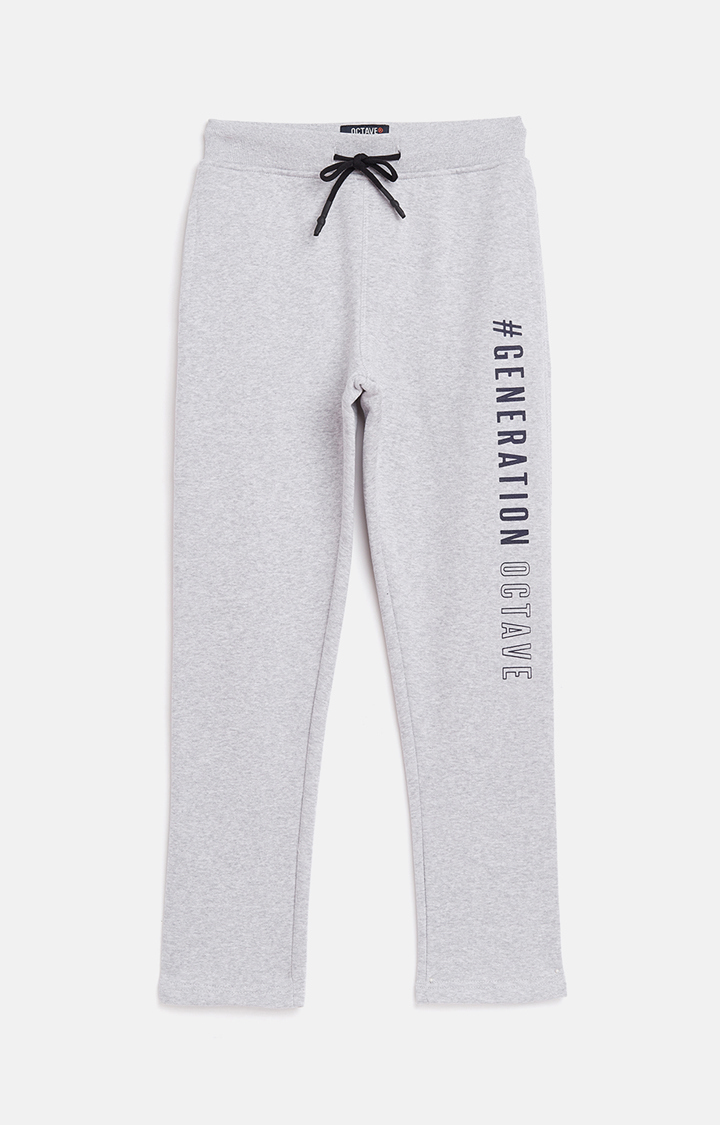 OCTAVE | Grey Printed Casual Pants
