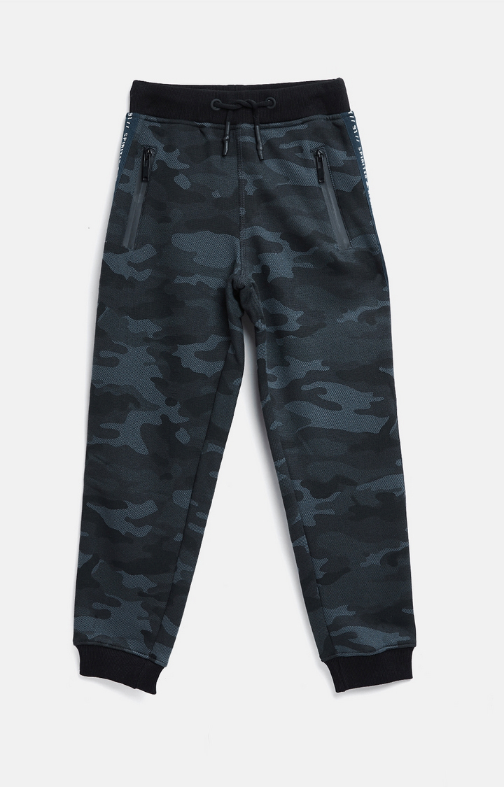 OCTAVE   Navy Printed Joggers