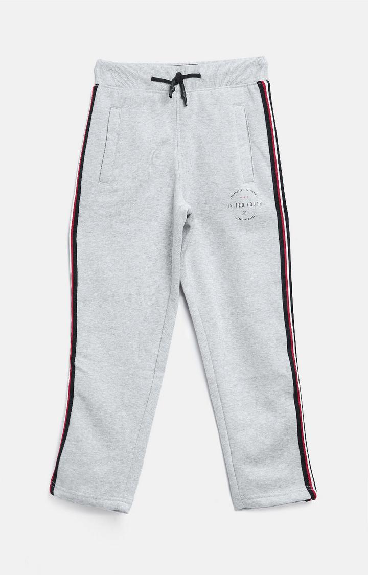 OCTAVE | Grey Melange Casual Pants
