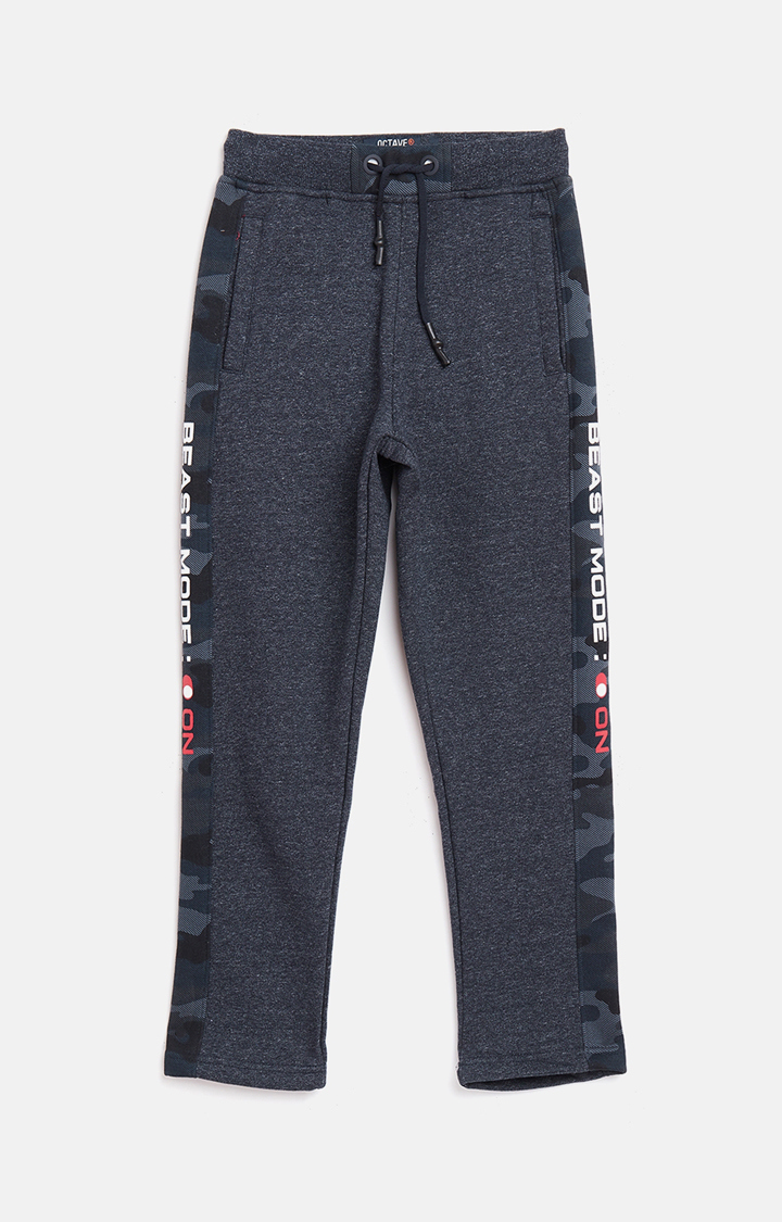 OCTAVE | Navy Melange Casual Pants