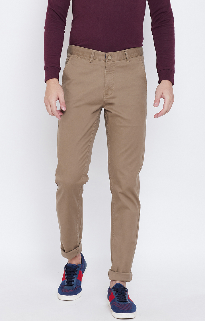 OCTAVE | Brown Tapered Chinos