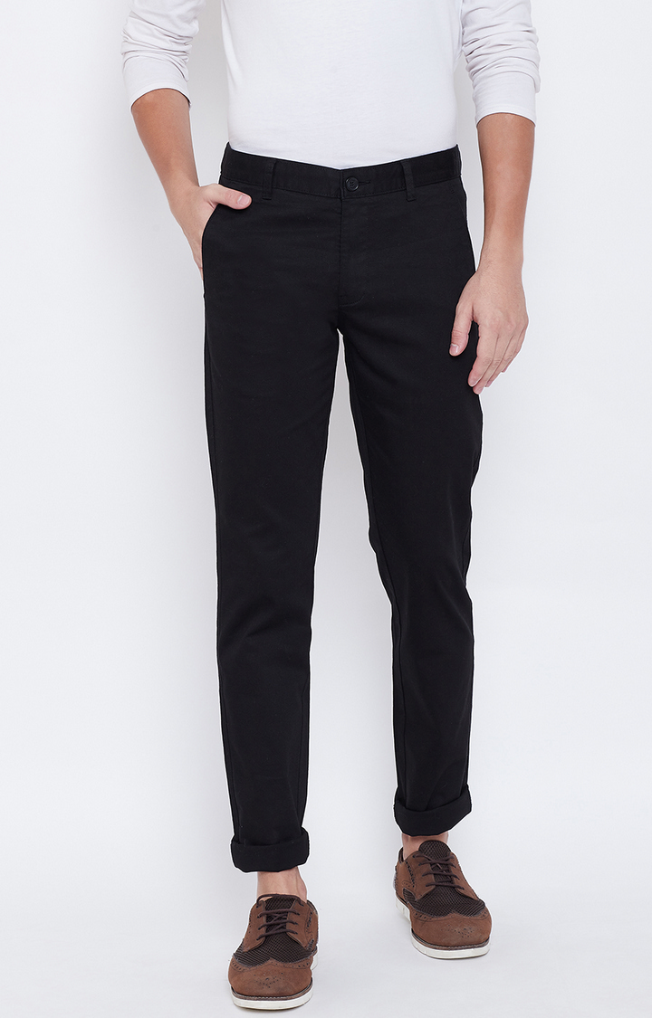 OCTAVE | Black Tapered Chinos