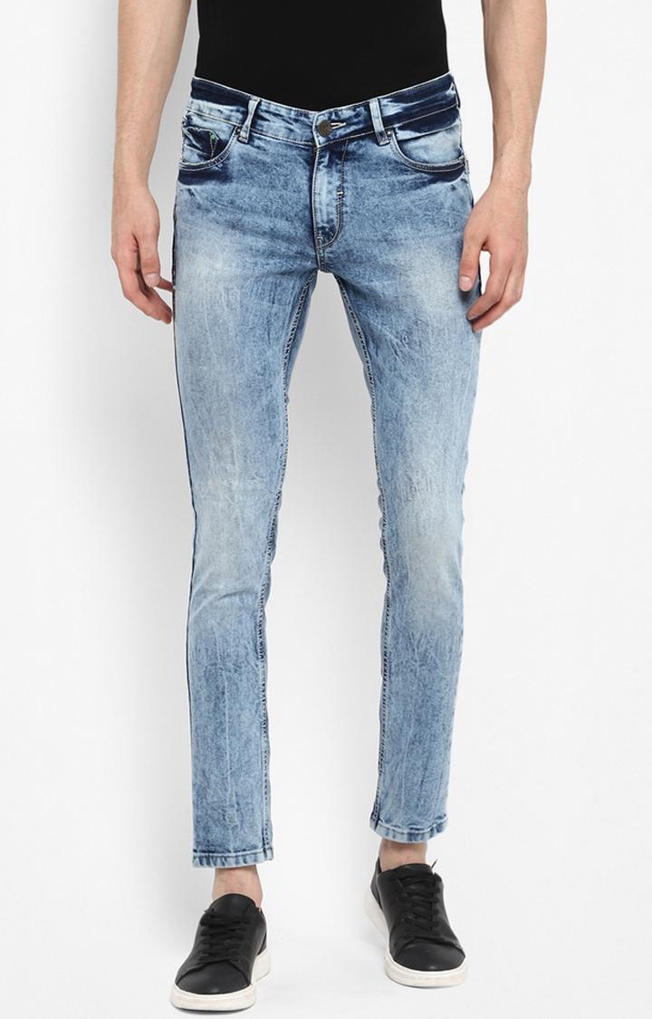 Spykar | Spykar Light Blue Solid Skinny Narrow Leg Fit Jeans
