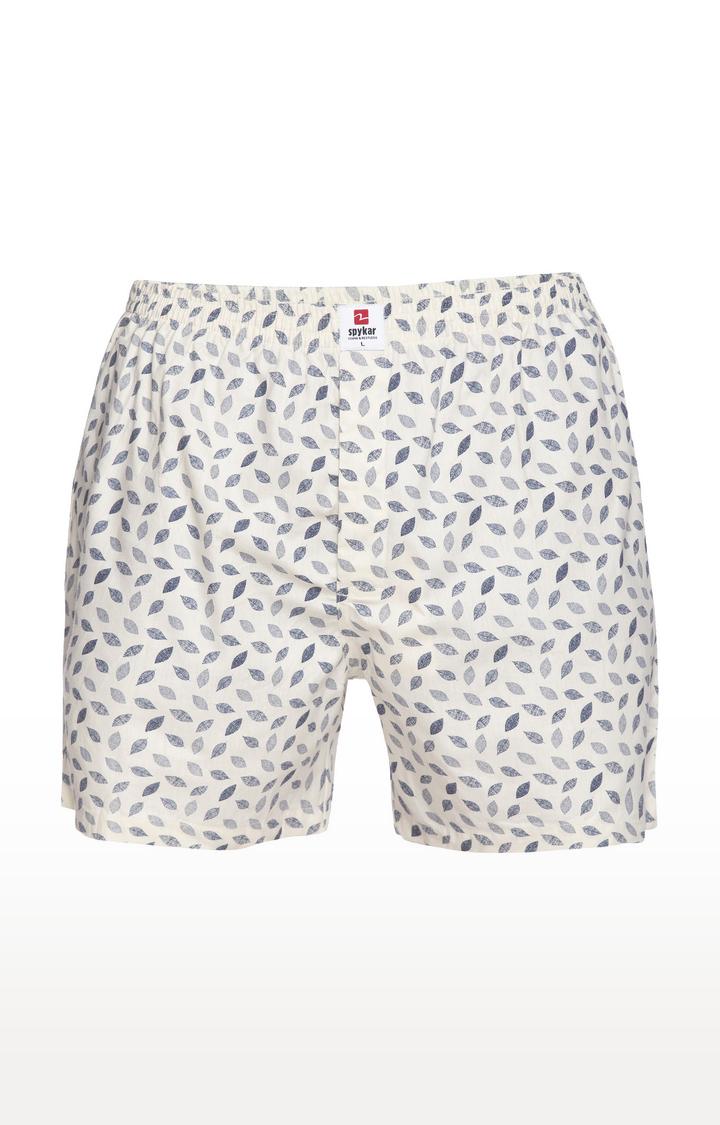 Spykar | Spykar Off White Printed Slim Fit Boxers